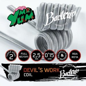 RESISTENCIA BACTERIO COIL DEVIL´S WORK MR.YUM 0.15OHM